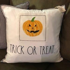 NWT Halloween 'Trick of Treat' Pumpkin Pillow